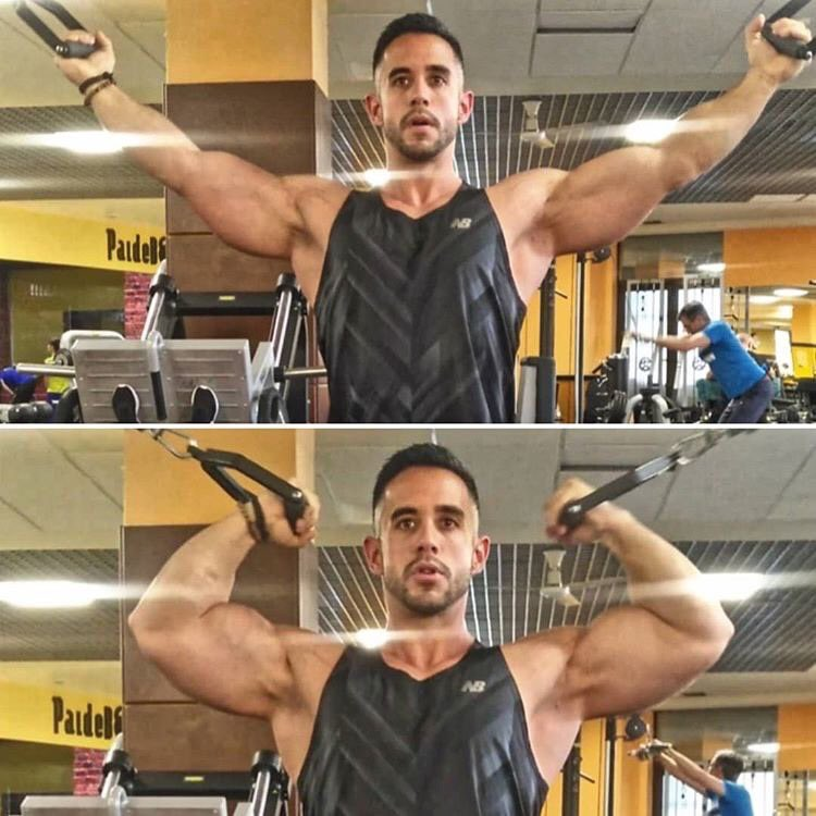macho de gym haciendo ejercicio