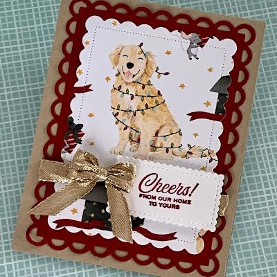 Handmade Christmas Card using Stampin' Up! Sweet Stockings Designer Series Paper
