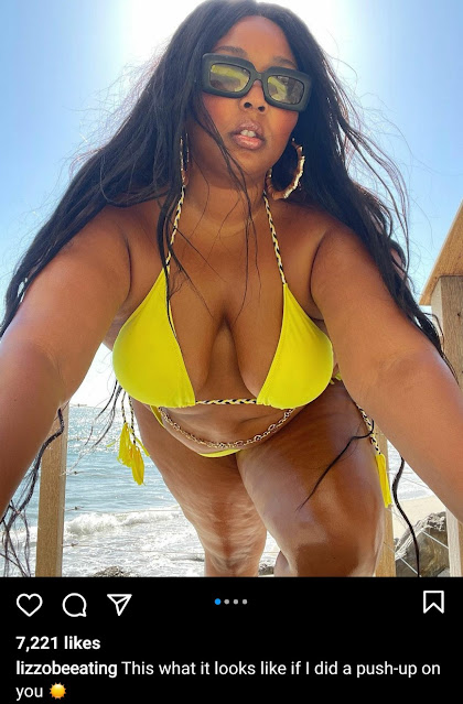 Check out Lizzo curves as she flaunts it in a new bikini style (Photos)
