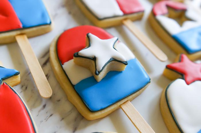 Double-decker Texas Bomb Pop Cookies