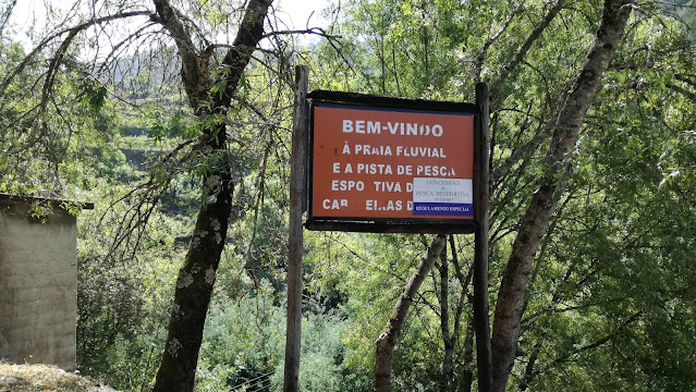 bem vindo a praia Fluvial e Pista de Pesca desportiva de Cabeceiras de Basto