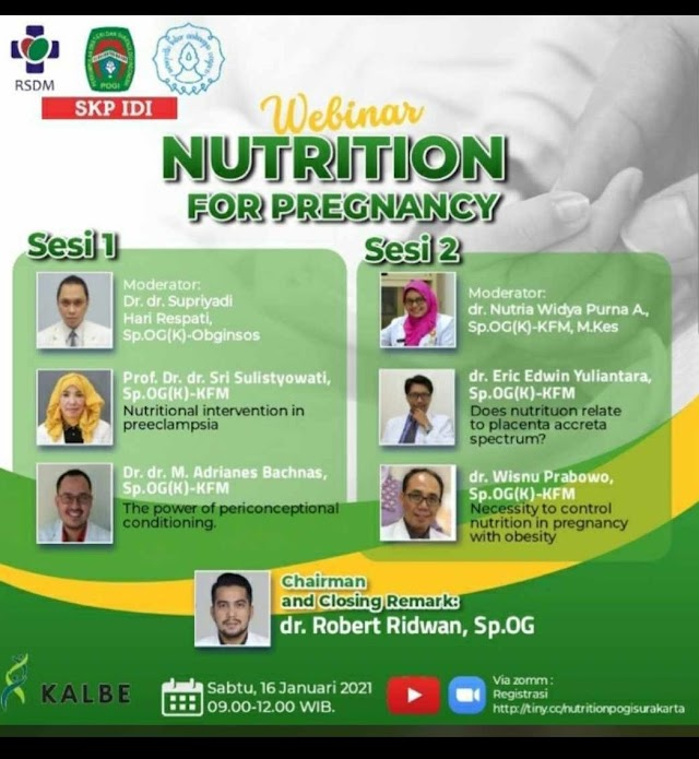 "Free SKP IDI ""Webinar Nutriotion For Pregnancy"""