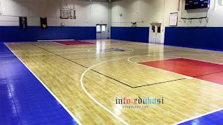 Contoh Gambar Foto Lapangan Bola Basket Di Dalam Ruangan (Indoor)