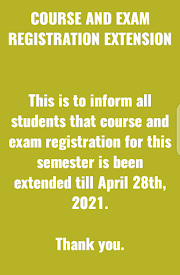 BREAKING NEWS: COURSE & EXAM REGISTRATION EXTENSION