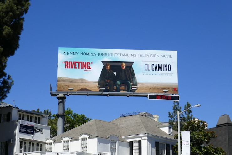 El Camino film Emmy nominee billboard