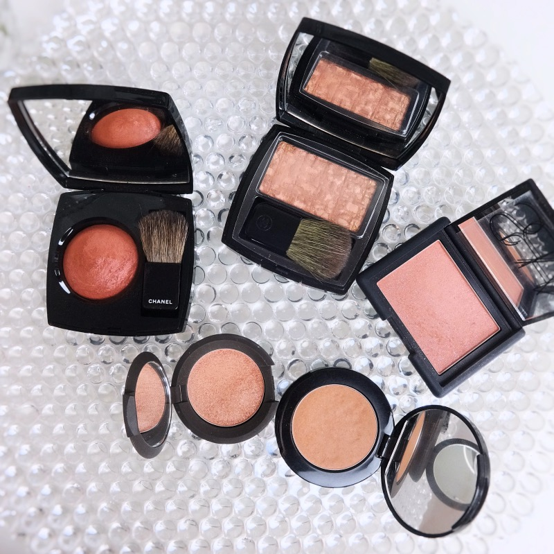 peach beige blushes comparison swatches