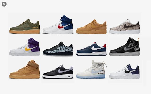 Modelos Nike Air Force 1
