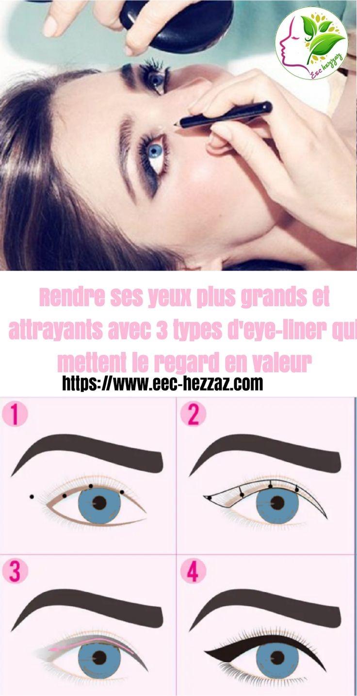 Rendre ses yeux plus grands et attrayants avec 3 types d'eye-liner qui mettent le regard en valeur