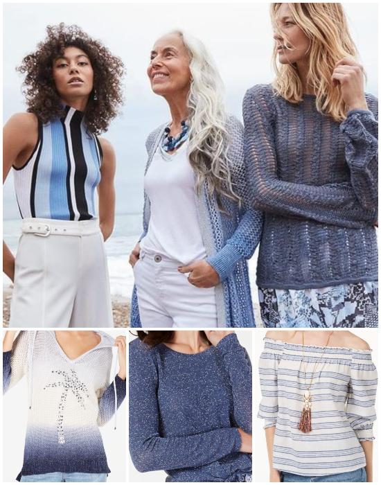 Blue Beach Fashion Tops