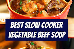 Best Slow Cooker Vegetable Beef Soup Recipe #beef #beefsoup #soup #vegetable #comfortfood