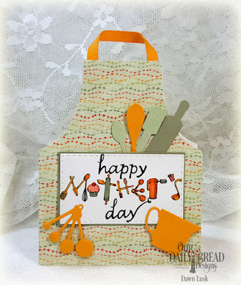 Our Daily Bread Designs Stamp Set: Mother's Day Baking Tools, Our Daily Bread Designs Custom Dies: Apron and Tools, Double Stitched Rectangles, Our Daily Bread Designs Paper Collection: Cozy Quilt