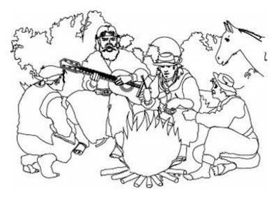 Dibujos para colorear y pintar día de la tradición Argentina