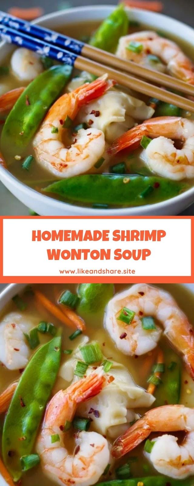 HOMEMADE SHRIMP WONTON SOUP