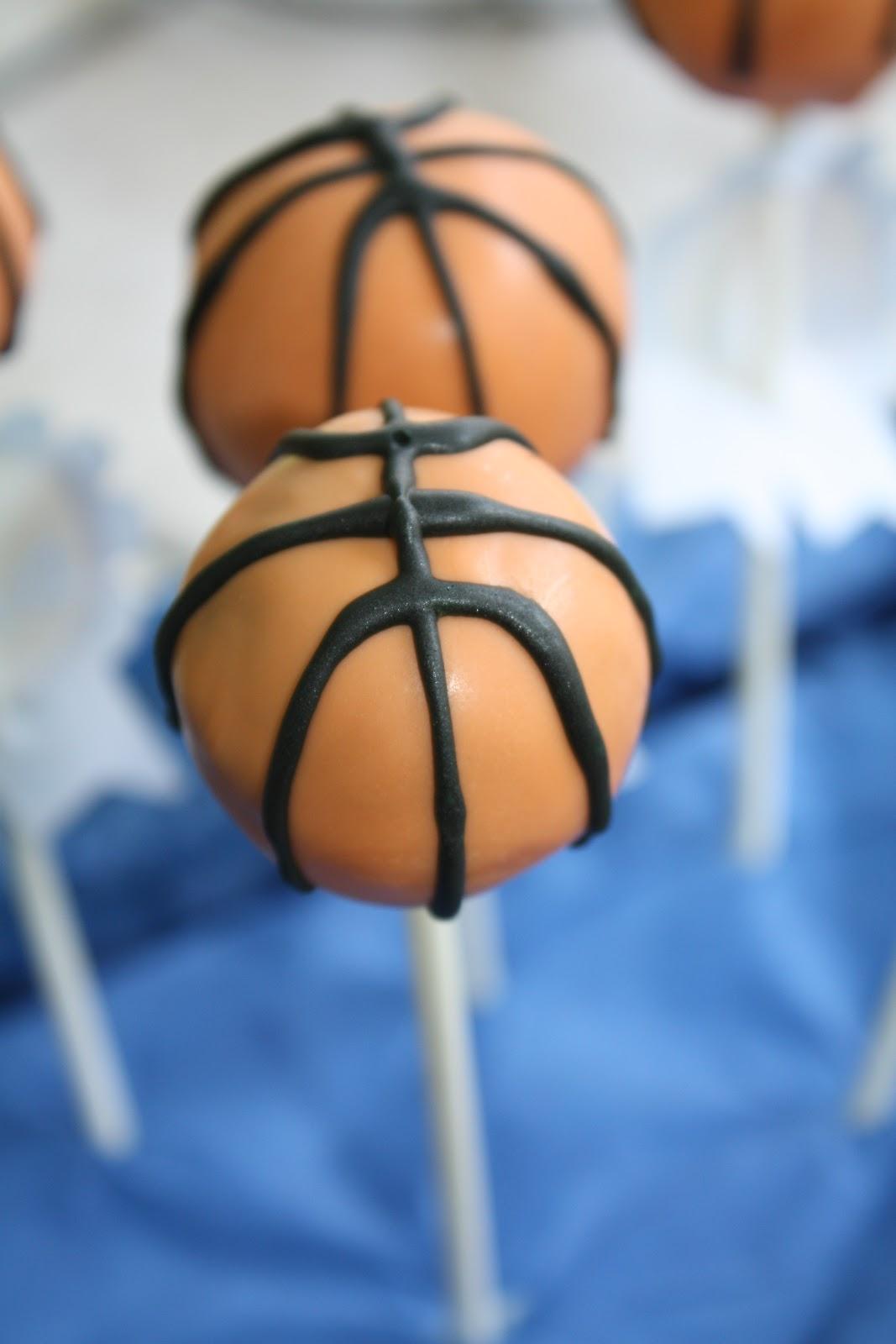 How To Make Basketball Themed Cake Pops
