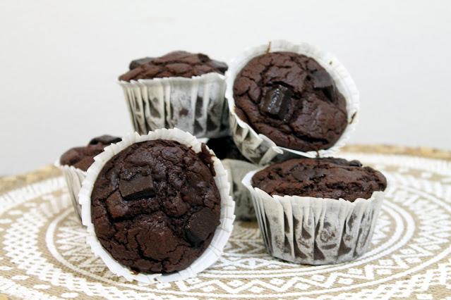 Muffins de chocolate paleo (harina de coco)