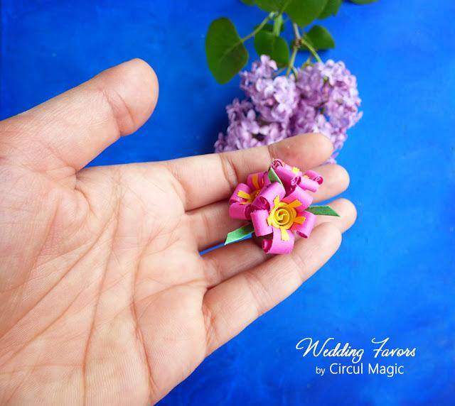 Marturii Handmade Quilling pt Nunta sau Botez: Mini Primule