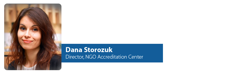 Dana Storozuk, Director, NGO Accreditation Center