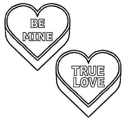 True Love Be Mine Kids Coloring Pages