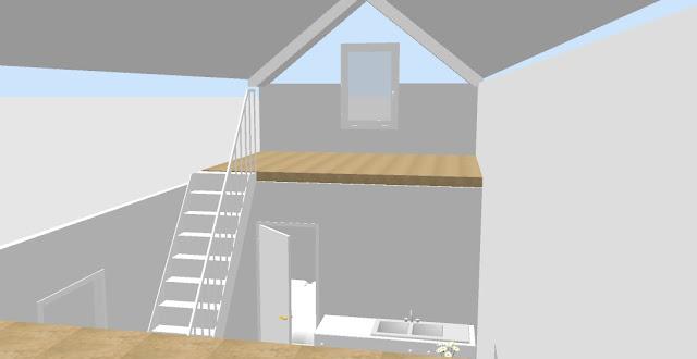 projekt domku letniskowego z dwoma antresolami
