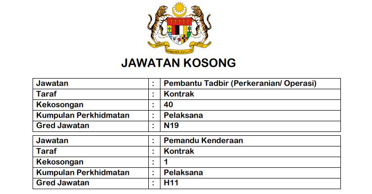 Jawatan Kosong di Jabatan Pembangunan Wanita JPW Seluruh Malaysia
