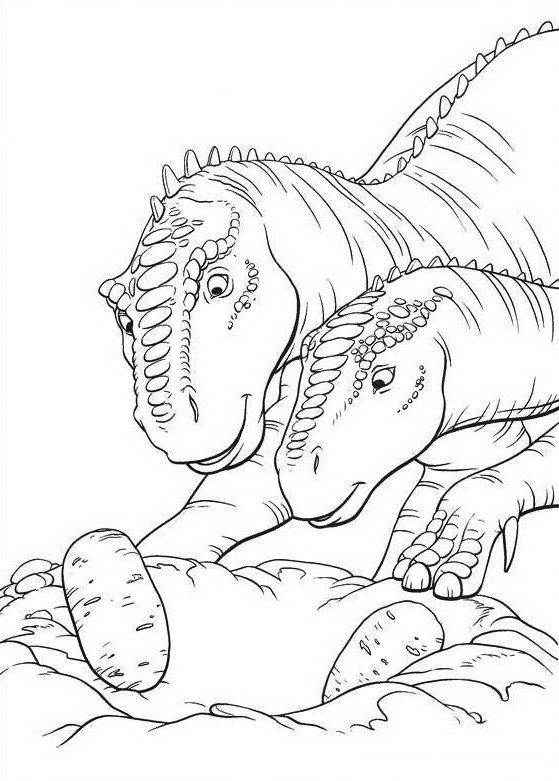 Dinosaurs coloring pages 4