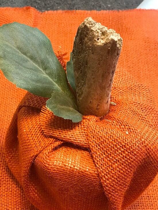 Burlap Pumpkin Toilet Paper Cover DIY