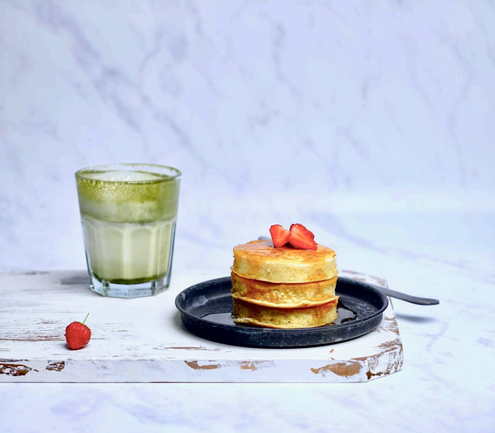 pancakes gourmands du dimanche , Season café , pancakes fluffy
