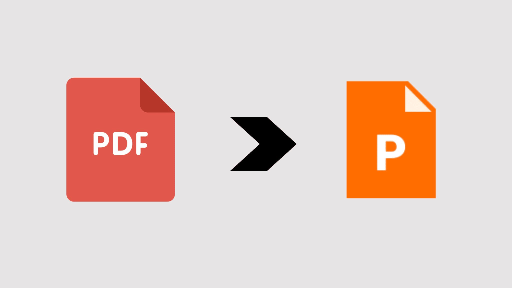 convert pdf to pptx