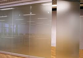 Frosted Glass Partition
