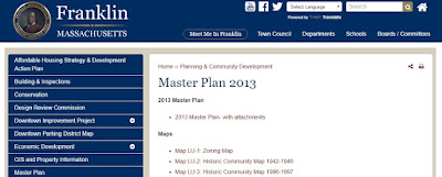 Town of Franklin Master Plan 2013 webpage