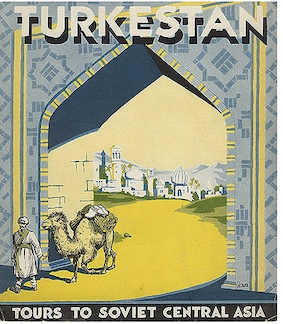 soviet travel posters central asia, central asia art craft tours