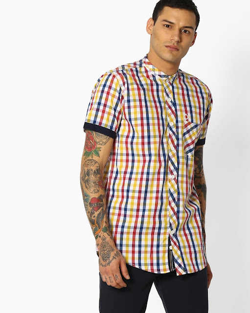 Checked Shirt with Patch Pocket