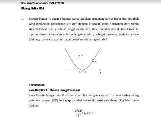 pembahasan osn osk ksnk ksn-k fisika sma tahun 2020 tomatalikuang.com