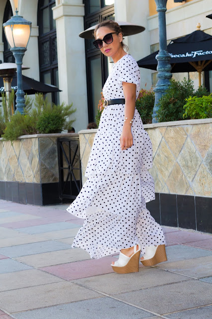 PUFF SLEEVES AND POLKA DOTS DRESS