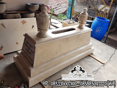 Kijing Makam Muslim Marmer, Model Makam Marmer, Kuburan Batu Marmer