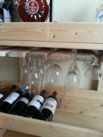 Optional hanging rack for glasses