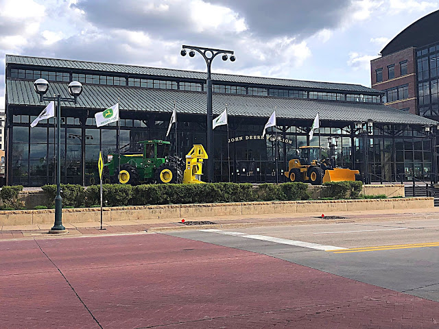 John Deere Pavilion which is full with John Deere equipment to explore and displays about the history and innovations of John Deere!