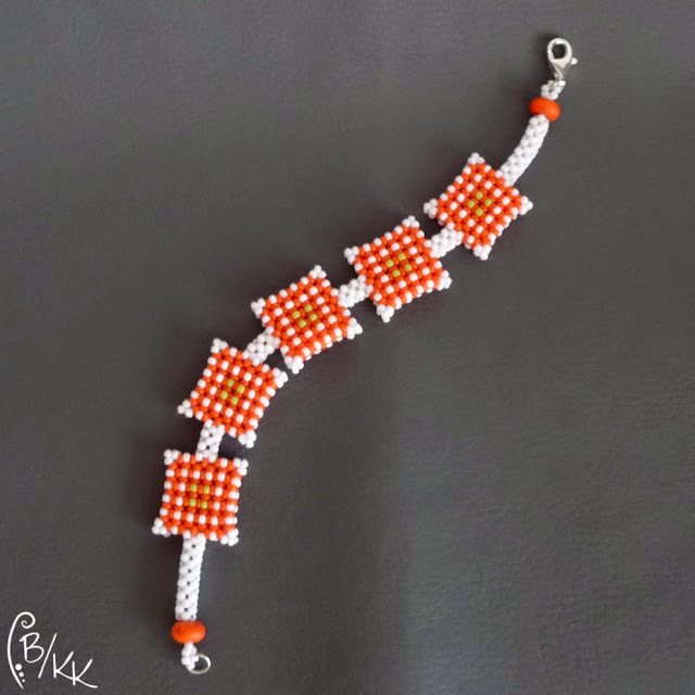 bransoletka cubic right angle weave | right angle weave bracelet