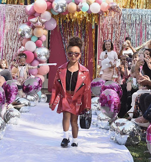 North West walks fashion runway