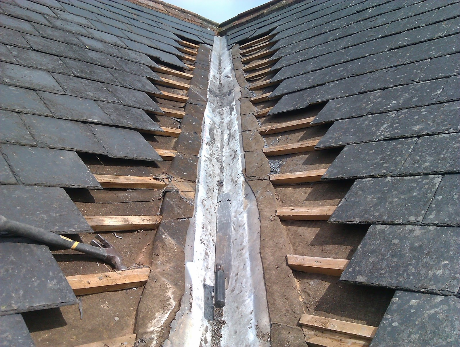how to repair a roof leak in a valley