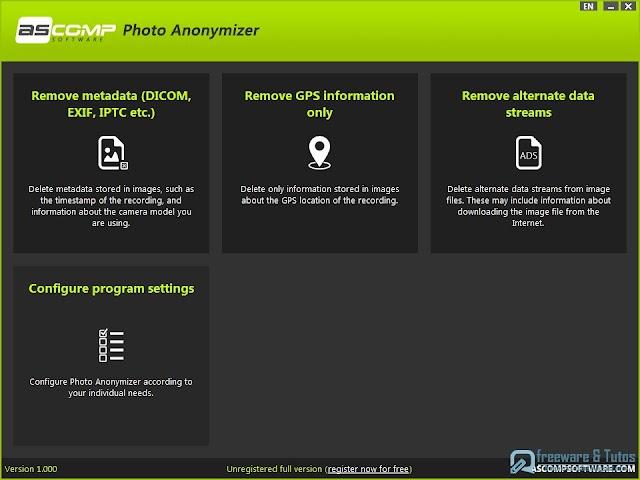 Photo Anonymizer : un logiciel gratuit pour supprimer rapidement les métadonnées de vos photos