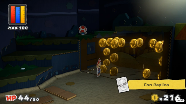 Paper Mario: Color Splash Fan Replica card gold coins graphics