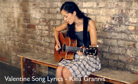 Valentine Song Lyrics - Kina Grannis