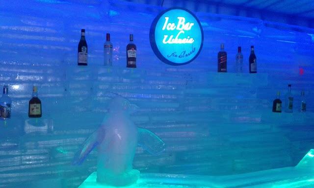 Bar de gelo em Ushuaia