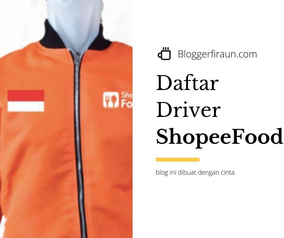 daftar shopee food driver Jakarta dan kota lainnya di Indonesia