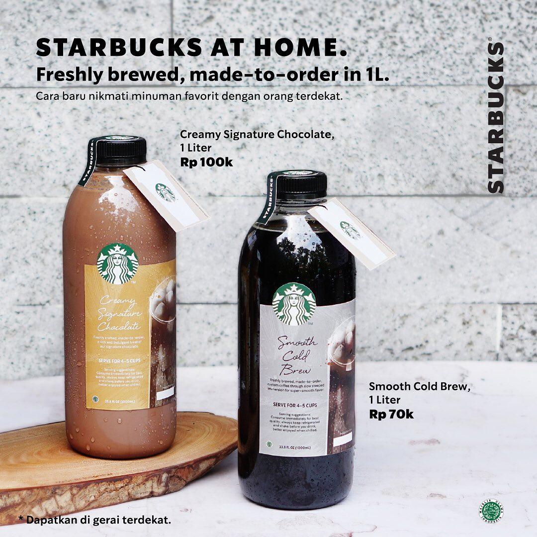 Promo Starbucks Varian Minuman Baru Smooth Cold Brew dan Creamy Signature Chocolate
