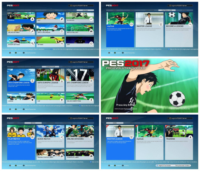 PES 2017 DAYS Soccer Anime Graphic Menu
