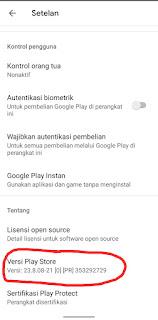 Cara Update Google Play Store