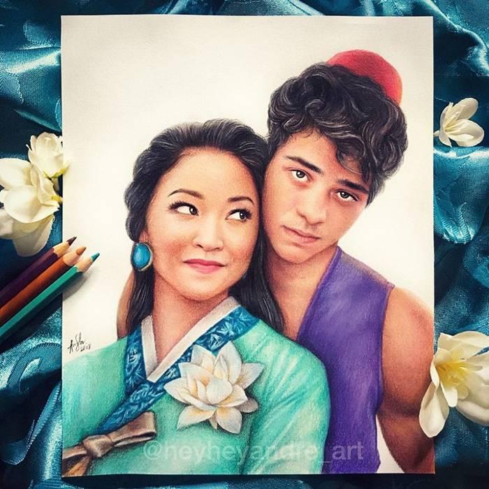Noah and Lana Condor as Aladdin and Jasmine