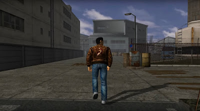 As Ryo enters the harbor compound, his attention is caught by the sound of thuggery...